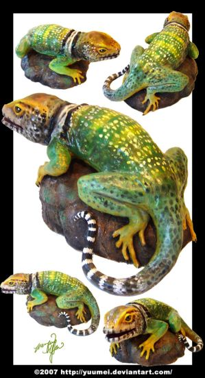 Lizard Sculpture by yuumei