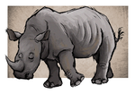 Rhino by painted-flamingo