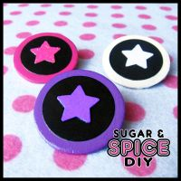 TRIGGER HAPPY Star Pins Astro Pack by SugarAndSpiceDIY