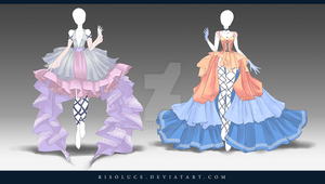 (CLOSED) Adoptable Outfit Auction 140-141 by Risoluce