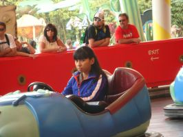 I'm in pillbug buggie bumper car ride by Magic-Kristina-KW