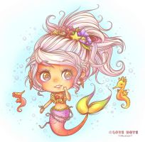 Cutie Mermaid by lovenotestudios