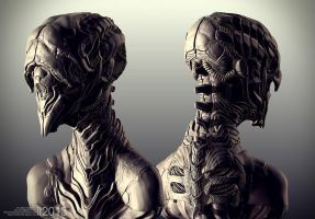 Alien Bust - Sheet by Rhythem02
