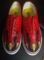 Custom painted dinoshoes by dannyPs-customs