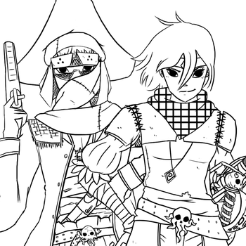 Sand Pirates Line Art by The-Other-User