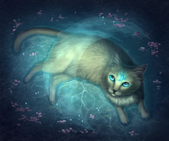Magic moon cat by WolfsECHO