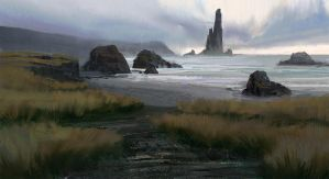 landscape sketch by MathiasZamecki