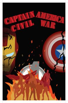 Captain America Civil War Poster Concept by SoulWardenInfinity