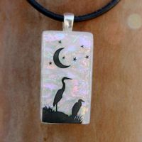 Crane's Night Fused Glass by FusedElegance