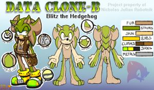 Blitz the Hedgehog -- 2013 Reference Sheet by Amuzoreh