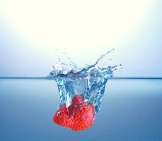 Strawberry Splash by PriorPhotography