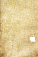 iPhone 4S Sepia Wallpaper White Logo by SimpleWallpapers