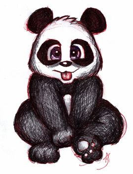 Scribble Panda by Spica2041