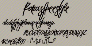 Rokasfreestyle font. by TheTimeeOfOurLives