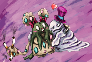 garbodor and muk by AlexiLaihoCOBHC