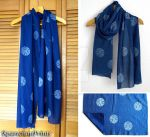 Time Lord Seal Blue Cotton Scarf by lazylinepainterjane