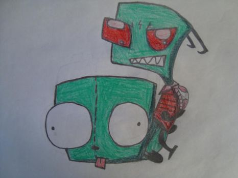 Invader Zim 1. Drawing by marko0121