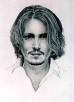 Johnny Depp--face by PamelaKaye