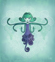 octopus girl by 00hrs
