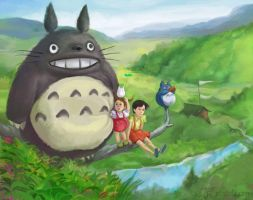 my totoro fan art by psmonkey