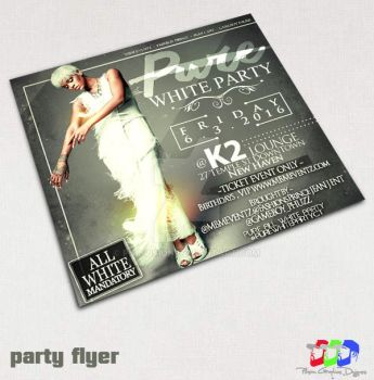 White Affair party flyer by PhilVision