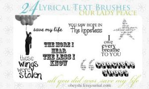 24 Lyrical Tiny Text Brushes by Obeyshi
