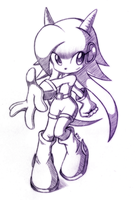 Lilac the Dragon Girl - Sketch by R-No71 by SpacemanStrife