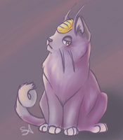 Alolan Meowth by QwertyNerd