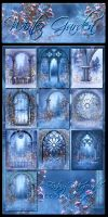 Winter Garden Backgrounds by moonchild-ljilja