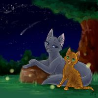 Bluestar and Firekit by WhiteLily24