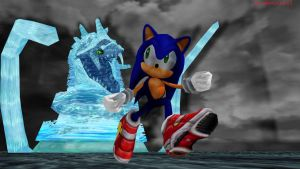 MMD Sonic - Sonic VS Perfect Chaos by MMDCharizard