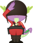 Spike-Soldier Salute by Groxy-Cyber-Soul