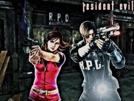 RE2 Claire and Leon by XxCherokeeRosexX