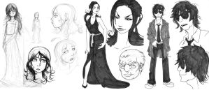 The Dirge Character roughs by VanHeist