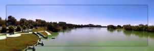 Red River 4 Picture Panorama by Joe-Lynn-Design