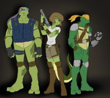 TMNT: SAINW Designs by Ty-Chou