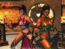 Mortal Kombat wallpaper - Jade and Mileena by ethaclane