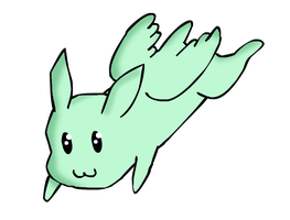 Flying Mint Bunny by DarkFlame11