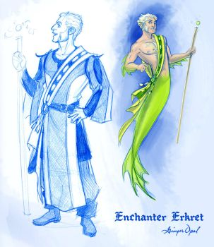 Fishy Enchanter Erkret by GingerOpal