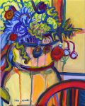 Lisa Cinelli - Bursting with Flowers by QCC-Art