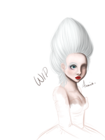 WIP Marie Antoinette OC by Bonnie-Anne