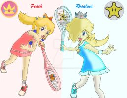 Peach and Rosalina by AngelMaria89