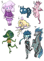 Free Adoptables! (CLOSED) by Ayveena