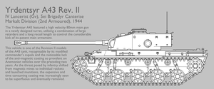 A43 Rev. II Medium Tank [Graphic|Uncoloured] by SixthCircle