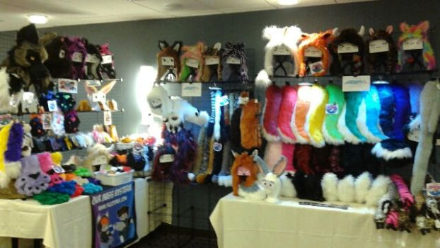 Our booth at Midwest Furfest 2016 by OurMassHysteria