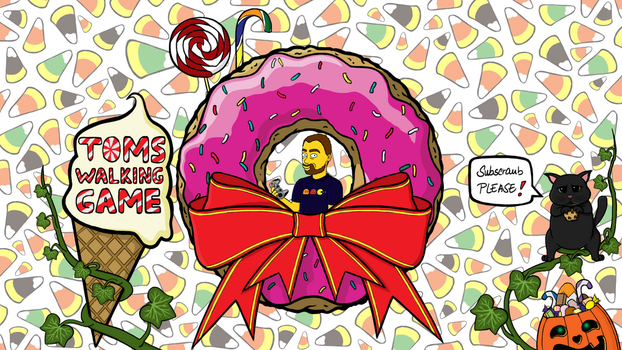 Sweet candy donut YT layout by GamingCatsStudio