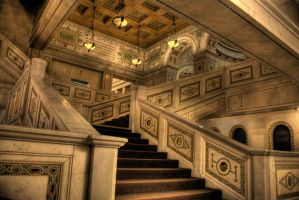 Chicago Cultural Center stairs by spudart