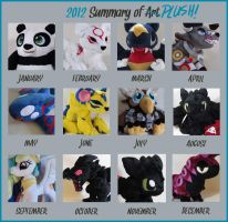2012 summary of plush by MagnaStorm