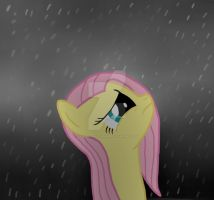 Fluttershy in the rain by Fluttershyfan94