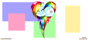 ~Rainbow Dash Chibi Heart~ by zeepaarden